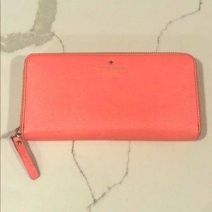 Kate Spade clutch wallet, neon pink!